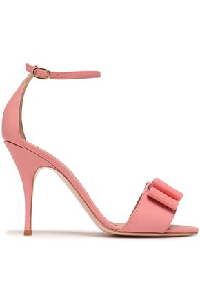RED(V) Bow-embellished patent-leather sandals