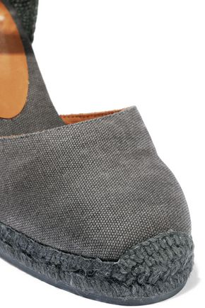 CASTAÑER Carina coated-canvas wedge espadrilles