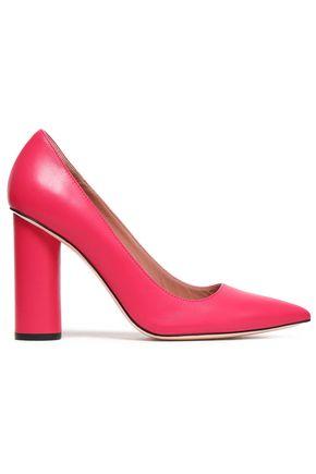 RED(V) Leather pumps