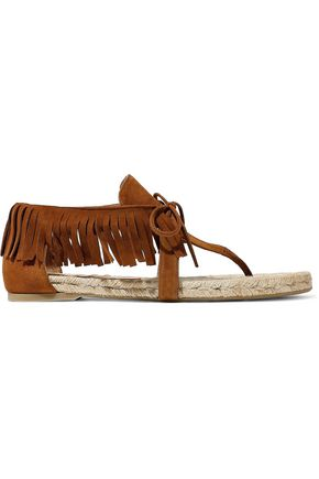 CASTAÑER Ione fringed suede sandals