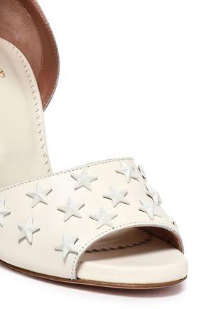 RED(V) Studded leather sandals