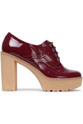 RED(V) Patent-leather platform brogues