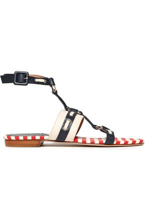 RED(V) Embellished two-tone leather sandals