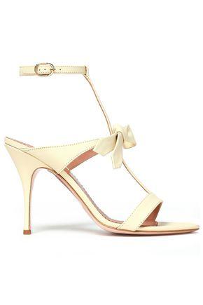RED(V) Bow-embellished leather sandals