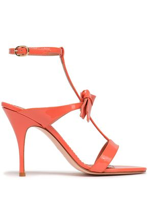 RED(V) Bow-embellished patent-leather sandals