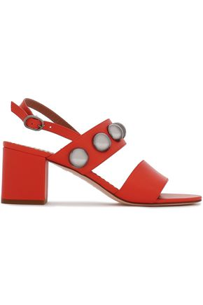 RED(V) Studded leather sandals
