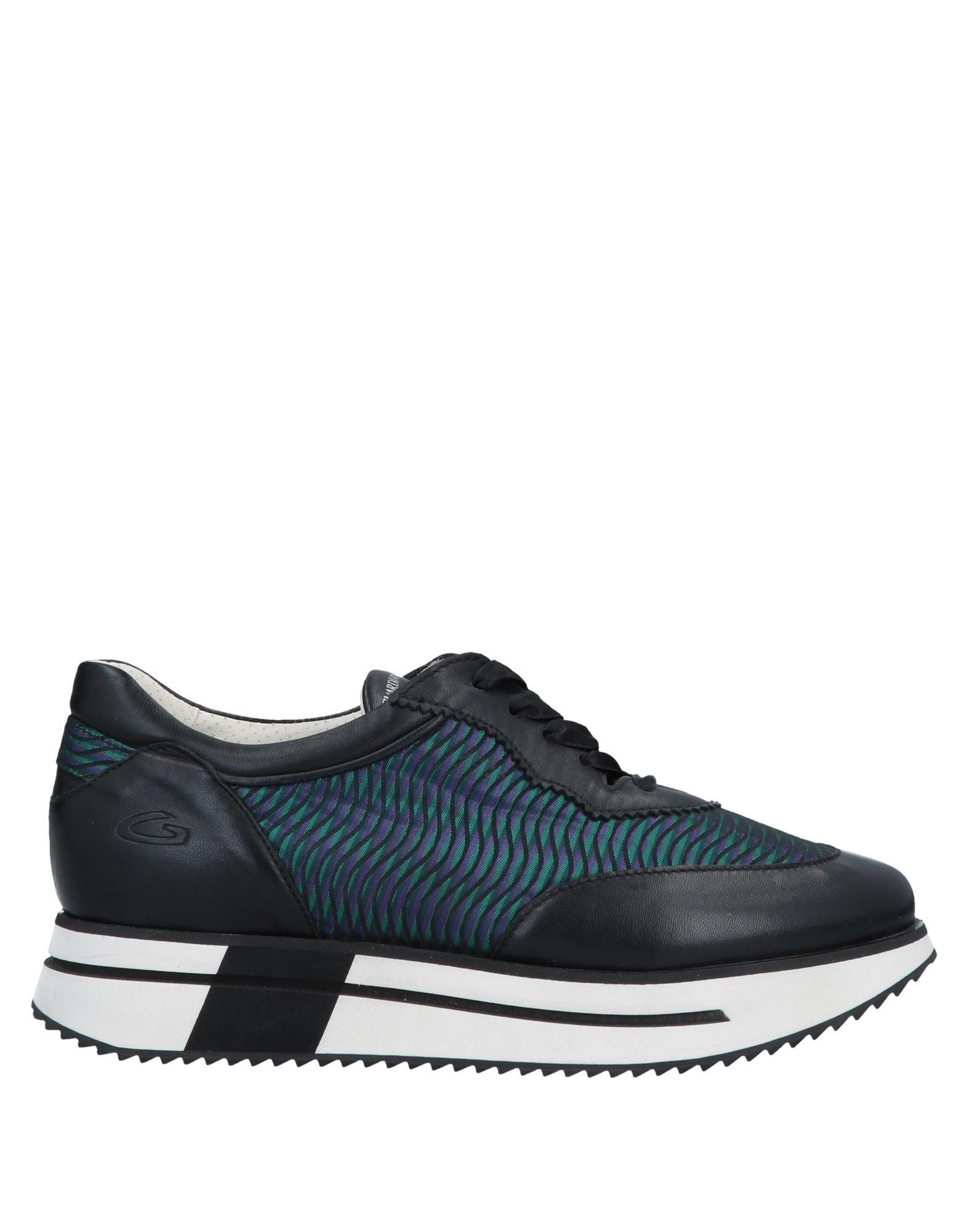 《送料無料》ALBERTO GUARDIANI レディース スニーカー&テニスシューズ(ローカット) ブラック 35 革 / 紡績繊維