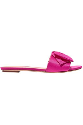 J.CREW Bow-embellished satin slides