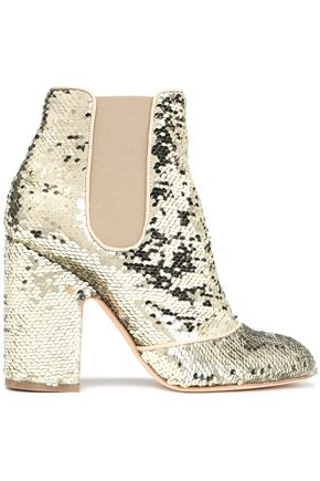 LAURENCE DACADE Mila sequined woven ankle boots