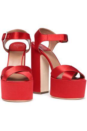 LAURENCE DACADE Rosella silk-satin platform sandals