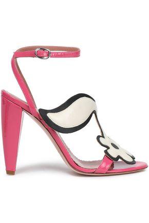 RED(V) Appliquéd patent-leather sandals