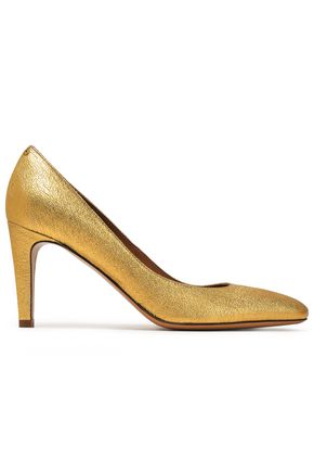 JÉRÔME DREYFUSS Metallic textured-leather pumps