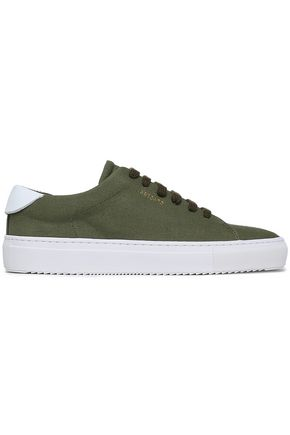 AXEL ARIGATO Leather-trimmed canvas sneakers