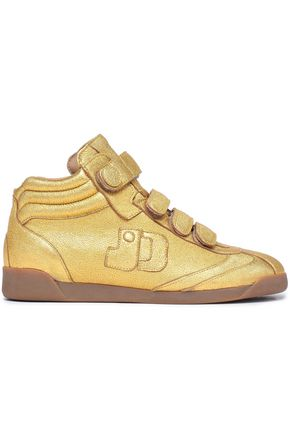 JÉRÔME DREYFUSS Metallic leather high-top sneakers