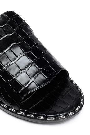 SIGERSON MORRISON Studded croc-effect leather slides