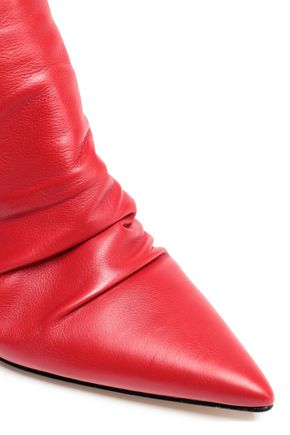 SIGERSON MORRISON Ruched leather slingback pumps