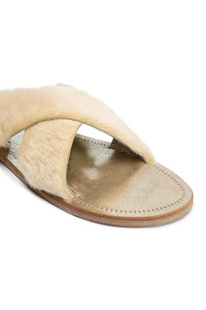 FIGUE Cupid shearling sandals
