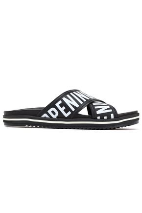 OPENING CEREMONY Berkeley logo-print faux leather slides