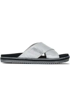 OPENING CEREMONY Embossed metallic rubber slides