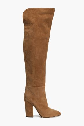 SERGIO ROSSI Royal suede over-the-knee boots