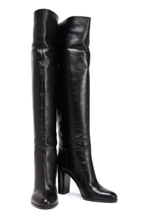 5e9cfd73f48 SERGIO ROSSI Leather over-the-knee boots
