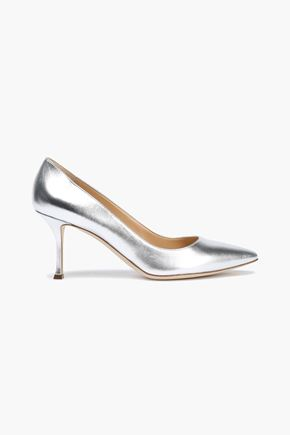 SERGIO ROSSI Godiva metallic leather pumps