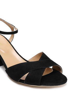 SERGIO ROSSI Royal suede sandals