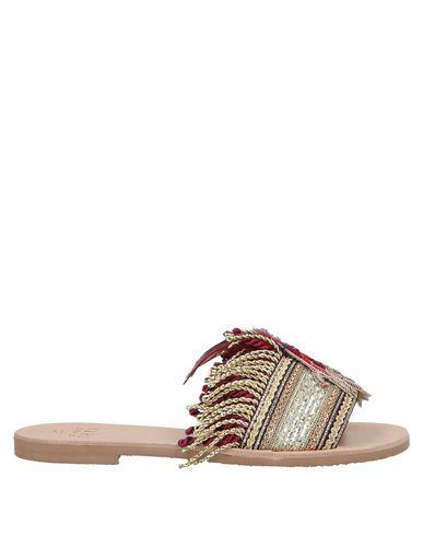 Купить Женские сандали  золотистого цвета