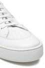SERGIO ROSSI Leather and knitted sneakers