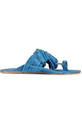 FIGUE Tasseled suede sandals