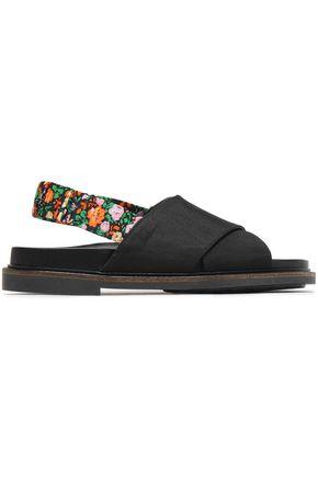 GANNI Mona grosgrain slingback sandals