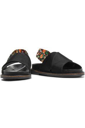 GANNI Mona floral-print twill sandals