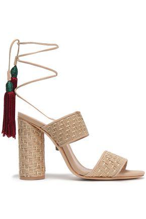 SCHUTZ Gaby tasseled woven sandals