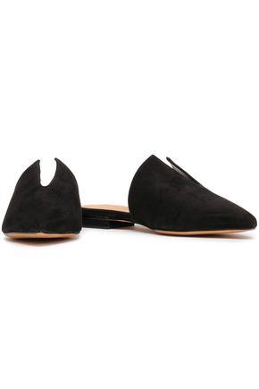 70ea74c6bac SCHUTZ Cutout nubuck slippers