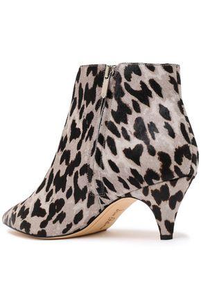 SAM EDELMAN Kinzey leopard-print calf hair ankle boots
