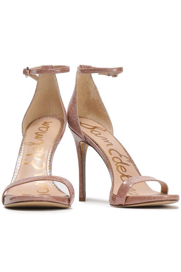 781d314fb55 Ariella glittered patent-leather sandals