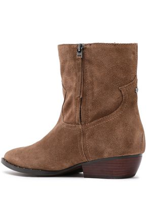 8f559ba969ea ... SAM EDELMAN Embroidered suede ankle boots