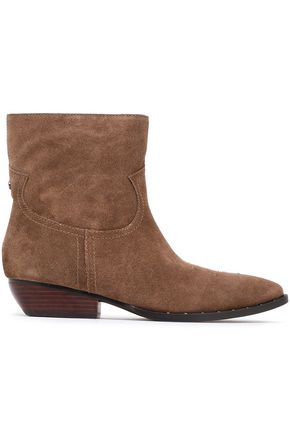SAM EDELMAN Embroidered suede ankle boots