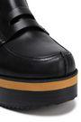JIL SANDER NAVY Leather wedge loafers