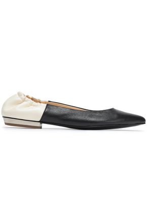 JIL SANDER NAVY Leather point-toe flats