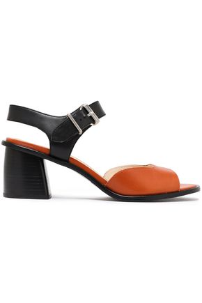 JIL SANDER NAVY Two-tone leather sandals