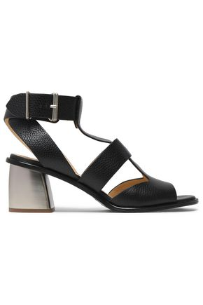 JIL SANDER NAVY Cracked-leather sandals