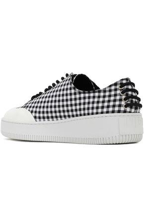 McQ Alexander McQueen Netil gingham woven platform sneakers