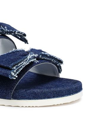 JOSHUA*S Bow-embellished denim slides