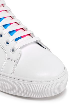 JOSHUA*S Neon-trimmed leather sneakers