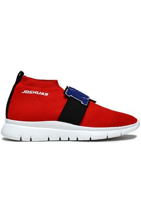 JOSHUA*S Appliquéd stretch-knit slip-on sneakers
