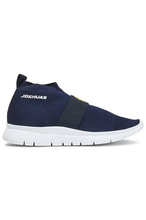 JOSHUA*S Embroidered stretch-knit slip-on sneakers