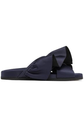 JOSHUA*S Ruffled satin slides