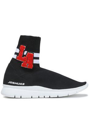 JOSHUA*S Appliquéd stretch-knit sneakers