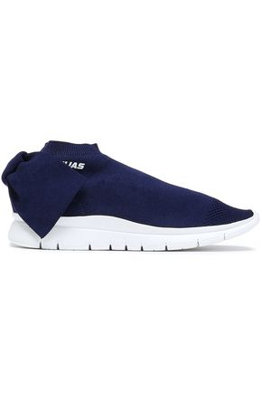 JOSHUA*S Bow-detailed stretch-knit high-top sneakers